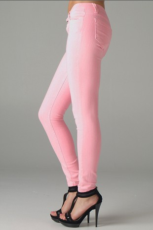 skinny pink jeans