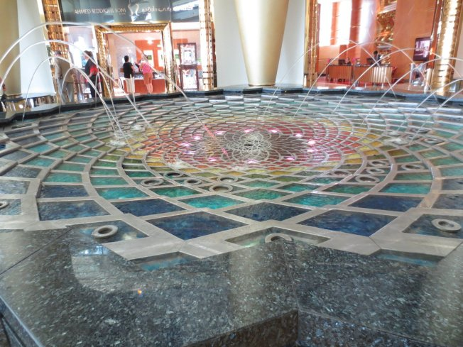My favorite water feature there.... did you go to the designer's website and read about it?