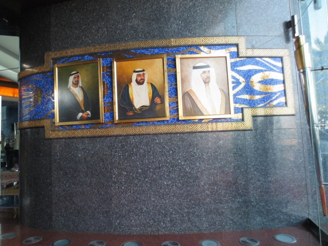 these portraits flanked the entrance