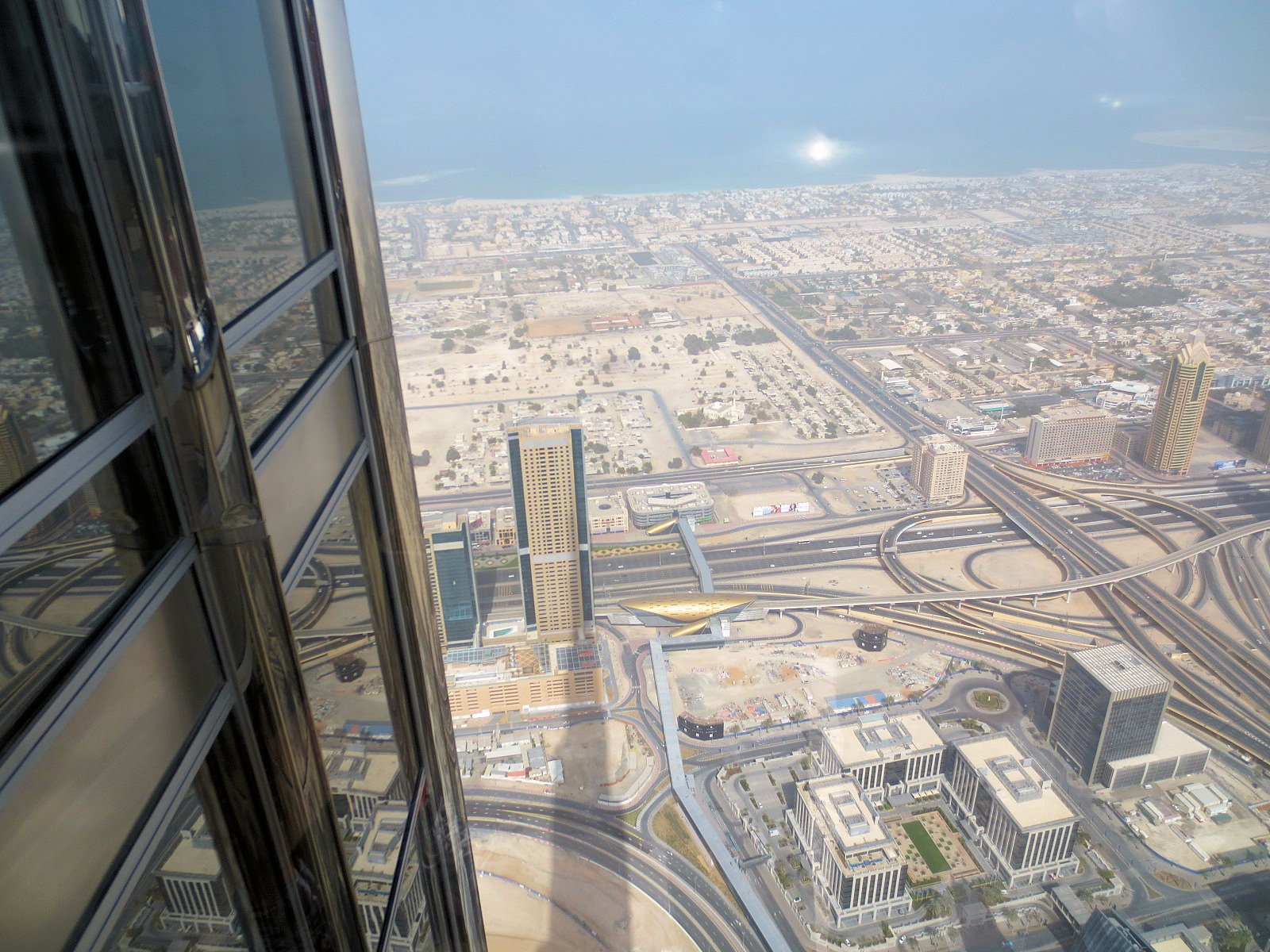 At theTop of the Burj Khalifa – tallest building in the ... Burj Khalifa From Top Floor