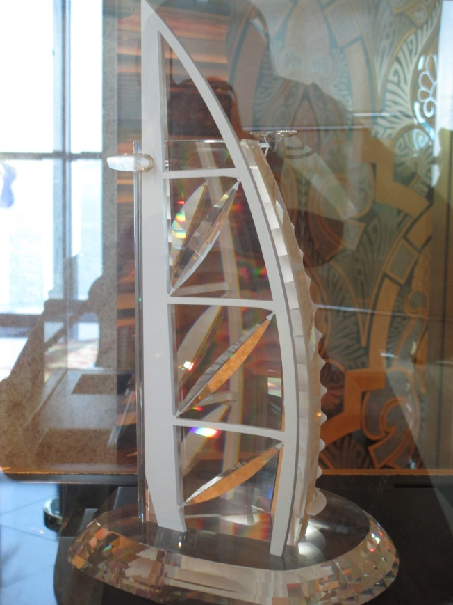 Side view of the crystal replica