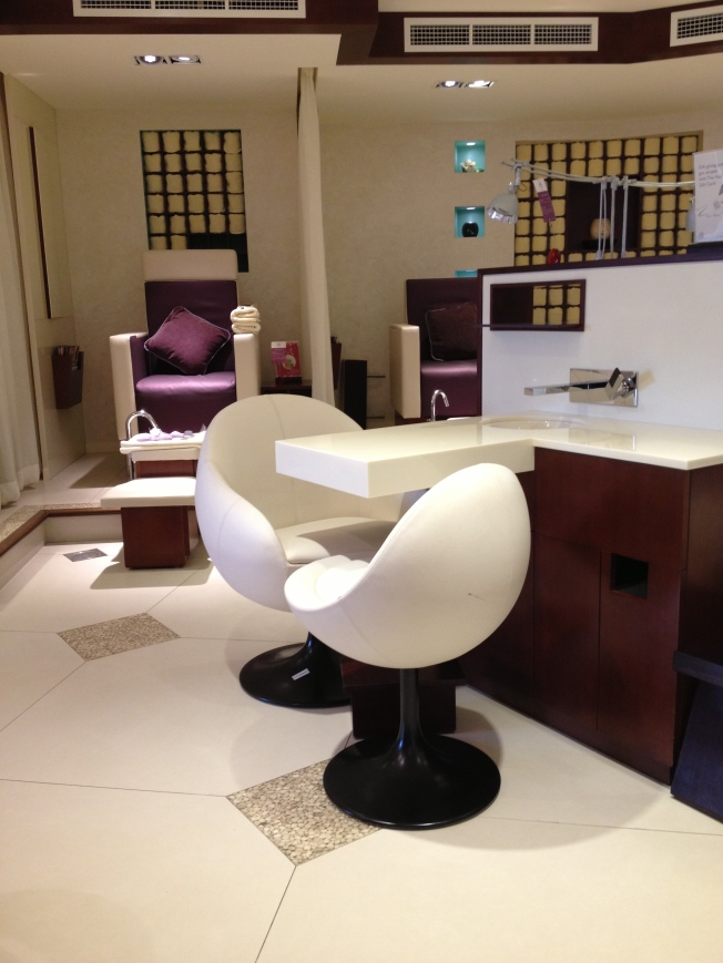 Don't the pedicure chairs look comfy?
