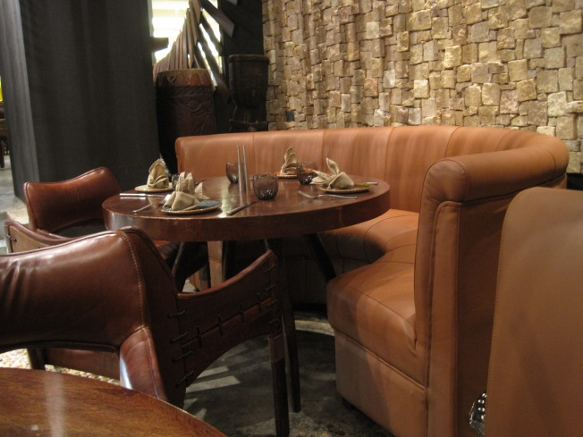 The seating areas are comfy and cozy, and great for conversations.