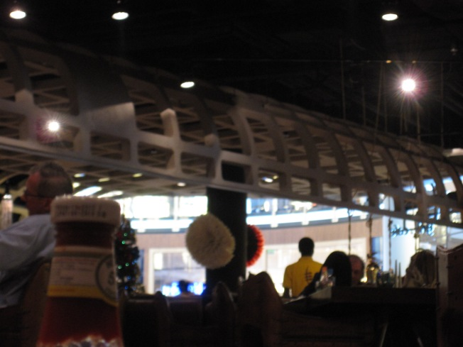 This is the bar area.  No, they don't serve real drinks with liquor.