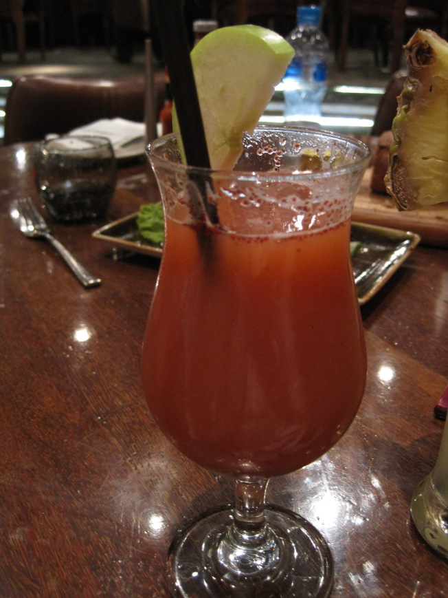 "TBG's ""mocktail"" - pronounced yummy as well."