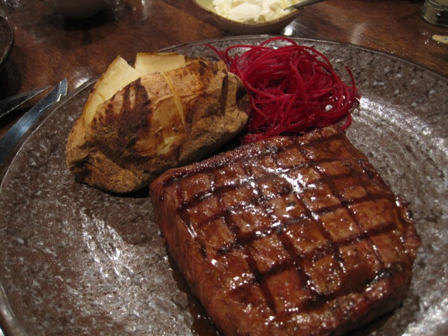 TBG's steak.  He loved it.