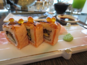 Salmon Sushi with Roe